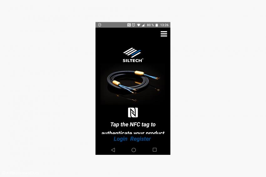 Die Siltech-App für Android oder IOS