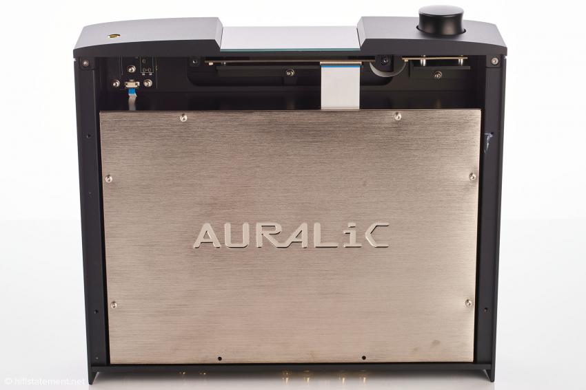 Das Innengehäuse aus Kupfer zur optimalen Abschirmung ist Merkmal aller Geräte der Auralic G2.1-Linie